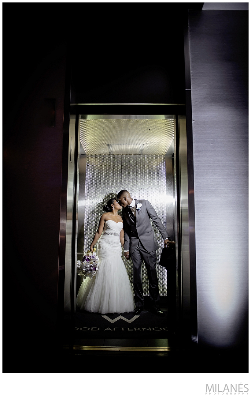 wedding_bride_groom_kiss_elevator_modern_creative